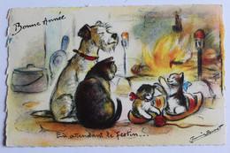 """GERMAINE BOURET  """" EN  Attendant Le Festin... ....  . """" M D PARIS  Bonne Annee - Bouret, Germaine"""