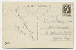 N° 634 SEUL CARTE 5 MOTS MECANIQUE AJJACIO  15.V.1944 CORSE AU TARIF RARE - 1944 Coq Et Marianne D'Alger