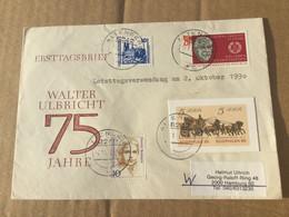 K16 DDR Ganzsache Stationery Entier Postal Brief Von Altenberg Mit GAA P 93 Letztag Der DDR - Postales - Usados