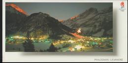 France Postcard 1992 Albertville Olympic Games - Posted Albertville 1990 Premier Jour De La Flamme (LF30) - Inverno1992: Albertville