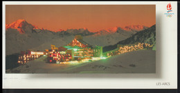France Postcard 1992 Albertville Olympic Games - Posted Albertville 1990 Premier Jour De La Flamme (LF30) - Winter 1992: Albertville