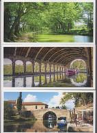 France 3 Cartes Postales Vierges - Canal Du Midi - Haute Garonne - Otros Municipios