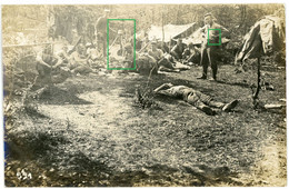 14-18.WWI Fotokarte-Deutsche Soldaten - Frankreich( Meuse)Argonnen Lothringen Aisne?Belle Carte !!! Rast Waldlager-(2-2) - 1914-18