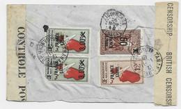 MADAGASCAR FRANCE LIBRE 5  DEFECTUEUX ?? CURIEUX LETTRE COVER AVION TANANARIVE 1941 TO KOLDA SENEGAL CENSURE BRITISH - Covers & Documents