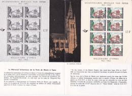 Feuillet Poste FDC 1239 Bloc 33 Ieper Millénaire De La Ville D' Ypres - Cartas