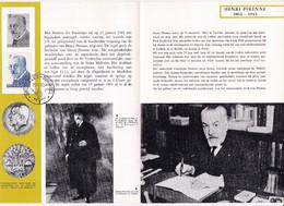 Feuillet Poste FDC 1240 Henri Pirenne - Cartas