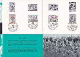 Feuillet Poste FDC 1255 à 1258 Vélo Cyclisme - Cartas