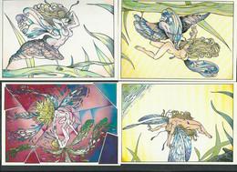 Philippe Luguy, Série De 8 CPM Les Elfémères ( érotisme) - Otros Ilustradores