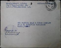 F 18  19....usa / France Militaire Apo 716 - Briefe U. Dokumente