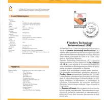 Feuillet Poste FDC 2243 Flanders Technology Montigny-le-Tilleul - Cartas