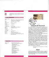 Feuillet Poste FDC 2247 Europalia Osterreich Autriche Fleurus - Cartas