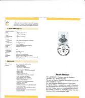Feuillet Poste FDC 2248 Jacob Wiener Chapelle-lez-Herlaimont - Cartas