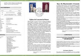 Feuillet Poste FDC 2251 2252 Europa Art Moderne église De Louvain-la-Neuve Tour St.-Maartensdal Louvain - Cartas