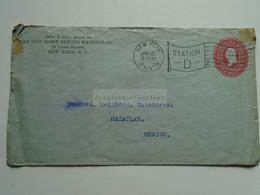 AV652.2  USA - Cover Cancel  New York  1900 - The New York Home Sewing Machine Co. - Sent To Mazatlan  Mexico - Briefe U. Dokumente