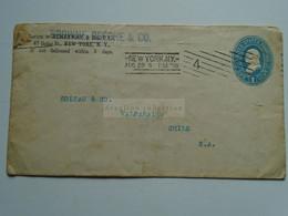 AV652.3  USA - Cover Cancel  New York  1900's -  Hemenway & Browne, Beéche & Co.  Sent To Valparaiso , Chile - Briefe U. Dokumente