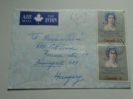 AV652.7    Canada Airmail Cover Cancel Port Joli  1973  -  QEII Comm. Stamps - Cartas