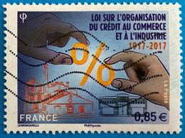 France 2017 : Centenaire De La Loi Sur L'organisation Du Crédit Au Commerce Et à L'Industrie N° 5132 Oblitéré - Oblitérés