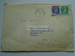 AV652.8    Canada  Cover Cancel Toronto  1957  -  QEII  Stamps  - Major's Office  Toronto  Sent To Budapest Hungary - Cartas