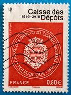 France 2016 : Bicentenaire De La Caisse Des Dépôts N° 5045 Oblitéré - Oblitérés