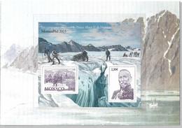 """26 - MonacoPhil 2015 Bloc F3008** Dans Document 2plis """"La Philatélie Polaire"""" Campagnes Arctiques Du Prince Albert 1er - Sin Clasificación"""
