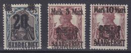 Saargebiet MiNr. 50-52 ** - Unused Stamps