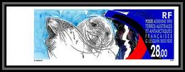 89900b Terres Australes Taaf Poste Aérienne PA N°136 Lesquin Phoques Seal Non Dentelé Imperf ** MNH - Sin Dentar, Pruebas De Impresión Y Variedades