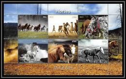 1007/ Bloc Cheval (chevaux Horse Horses) Neuf ** MNH Tirage Privé Vignette - Caballos