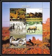 1008/ Bloc Cheval (chevaux Horse Horses) Neuf ** MNH Tirage Privé Vignette - Caballos