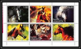1027/ Bloc Cheval (chevaux Horse Horses) Neuf ** MNH Tirage Privé Vignette - Caballos