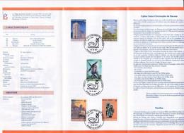 Feuillet Poste FDC 2254 à 2258 Tourisme Chimay - Cartas