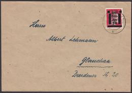 Germany - Local Issue / Lokalausgabe, Glauchau (Sachen) MiNr. 7 EF  Glauchau 8.8.1945. - Zona AAS