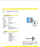Feuillet Poste FDC 2262 Année Belge Du Commerce Extérieur - Cartas