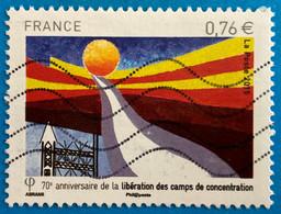France 2015 : 70e Anniversaire De La Libération Des Camps De Concentration N° 4948 Oblitéré - Oblitérés