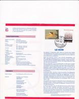 Feuillet Poste FDC 2271 2272 Journaux Le Soir Het Laatste Nieuws Fayt-lez-Manage - Cartas