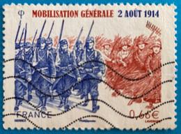 France 2014 : Centenaire De La Mobilisation Générale N° 4889 Oblitéré - Oblitérés
