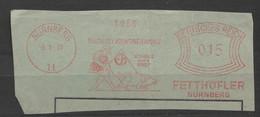 Deutsches Reich Briefstück Mit Freistempel Nürnberg 1931 Fetthöfler Motiv Tiere Schwein - Machine Stamps (ATM)