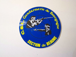 Autocollant - Tir Sportif - FFTir - C.S.L. Gendarmerie De Bourgogne - Section De BEAUNE 21 - Aufkleber