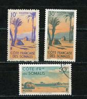 Ctes Des SOMALIS - PAYSAGE - N° Yvert  264+265+267 (*) - Oblitérés