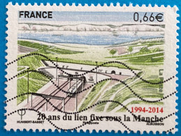 France 2014 : 20e Anniversaire De L'ouverture Du Tunnel Sous La Manche N° 4861 Oblitéré - Oblitérés