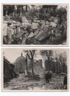 Photos Pellas  D'avignon Bombardé   ( 3 Photos   Cimetière _bd Denis Soulier _ Route De Marseille )  135 Mm  X 90 Mm - Avignon