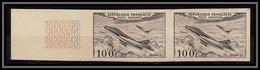 France PA Poste Aerienne Aviation N°30 Mystere Paire Essai Proof Non Dentelé ** MNH (Imperf) - No Dentado