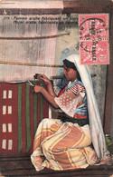 Maroc Paire Attachée Timbres N°85 Timbre Surchargé Tanger Sur Cpa Cachet 1921 Carte Femme Arabe Fabriquant Un Tapis - Lettres & Documents