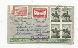 Lettre , Republica Argentina , BUENOS AIRES1  ,1941, POR AVION VIA CONDOR , Geöffnet, WEHRMACHT , 2 Scans - Lettres & Documents