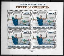 BURUNDI  Feuillet  N° 2053  * *     Coubertin Gymnastique Anneaux Danse - Gymnastiek