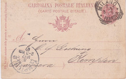 Italy-1897 10 C Red Brown Marriage Of The Crown Prince PS Postcard Milan Cover To Kempten, Germany - Gebraucht