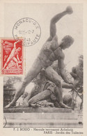 F. J. Bosio  -  Hercule Terrassant Achelous - Paris - Jardin Des Tuileries - Cartoline Maximum