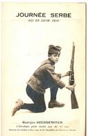 CHASSEURS ALPINS .NICE . JOURNEE SERBE . G GEORGEWITCH . 12 ANS RAMENE DE CORFOU AVEC LE 6EM BCA . 1916 - Reggimenti