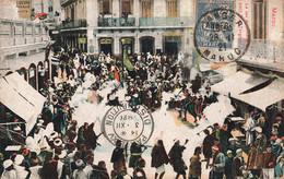 Maroc N°89 Timbre Surchargé Tanger Sur Cpa Cachet 1921 Carte Le Jeu De Poudre Au Petit Zoco - Lettres & Documents