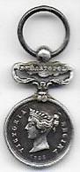 Médaille De Crimée  Miniature En Argent - Avant 1871