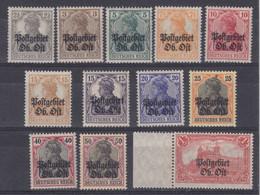 Dt.Bes.1.WK Ob.Ost MiNr. 1-12 * - Ocupación 1914 – 18